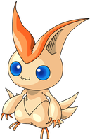 Telefang'd Victini by RacieB