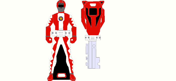 Operation DinoDrive Red Ranger Key by FoxFlameBlade125