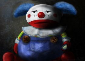 Sad sad clown by AliciaMigueles