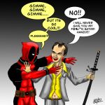 deadpool meets tarantino by nickbeta26