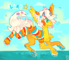 Laro the Mantibab - [Draw to adopt] by chickenmcfuckit