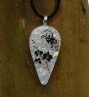 Butterfly's Orchid Fused Glass by FusedElegance
