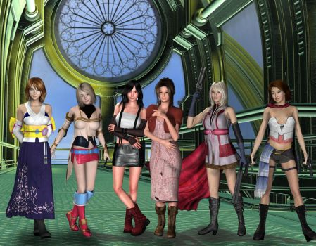 The Final Fantasy Ladies by jules2626