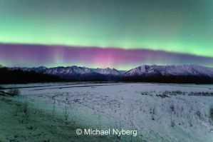 Knik River Aurora by mikewheels