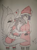 Christmas Greetings from Leblanc and Ahri~ by NyanDynamiX