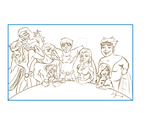 LoSH: -WIP- Family photo by Diablos-Scorpio