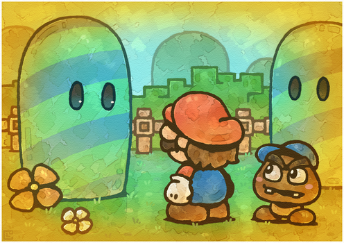 Paper Mario 64: Watching by Louivi