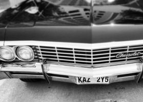 Black and white 1967 Impala by snchills
