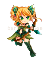 -- Chibi archer commission for GuardianBR -- by Kurama-chan