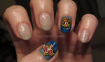 sailor moon nails by xtheungodx