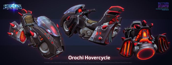 The Orochi Hovercycle by ArtDoge