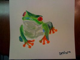 red eyed tree frog by SilverShards