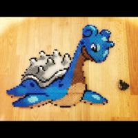 Lapras (Perler Beads) by soldierofsolace