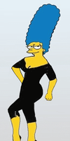 Marge Simpson as Ava Gardner by paulibus2001