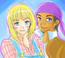 Claire and Kai by AnimeLover124