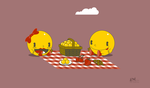 Pac Man Picnic by Cliffjumper78