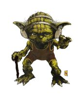 Yoda: Jedi Wrestling by TimKelly