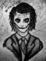 Joker black and white by Z-Madness