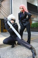 Raiden and Mistral Posing by ProVoltageCosplay