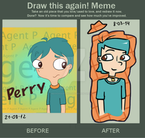 Before and After Meme - Human Perry by KatMaya