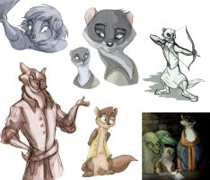 Pearls of Lutra Sketchdump the Second by Professor-R