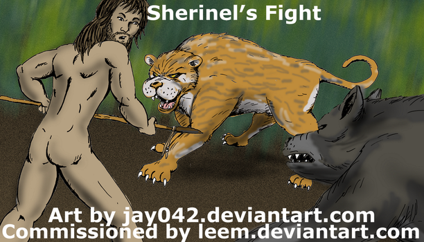 Commission - Sherinel's Fight by jay042 captioned by LeeM