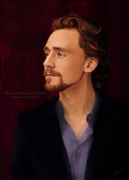 Tom On Crimson by LindaMarieAnson