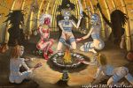 5 Witches on Sabbatical_by_zer by monstersandmaidens