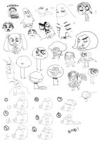 Random collage of doodles by Armedius
