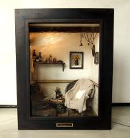 The Room with Old TRUNK (No.2)- Vintage Antique ch by dollhouseara