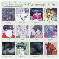 Smidgefish's Summary of Art 2013 by SmidgeFish