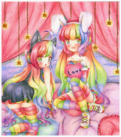 .Rainbow Girls. by lNeko-Hime