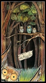 Owl family by Chalitto