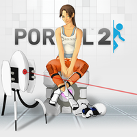 Chell Portal 2 by AxeL-FaR