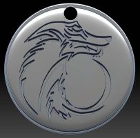 Tribal Wolf Pendant by Vargulfen