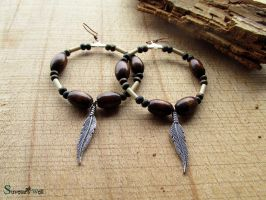 Tribal hoop earrings by SuvetarsWell