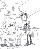 Zoot and Rowlf by MontyMuppet12