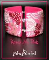 Roses Are Pink bracelet by BlueBluebell