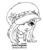 The Hat - Lineart by JadeDragonne