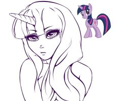 Twilight sparkle's Little glance by Britty-Mae