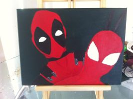 deadpool and spiderman (3 of 4) by sexyasfuck