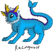 Pokemon RP Character Vaporeon by racingwolf