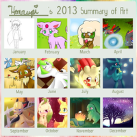 Honrupi's 2013 Art Summary by honrupi