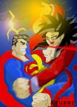 SuperMan Vs. Goku by Kruzer