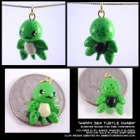 Happy Sea Turtle Charm by CatharsisJB