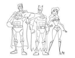JLA Trinity Rough by tyrannus