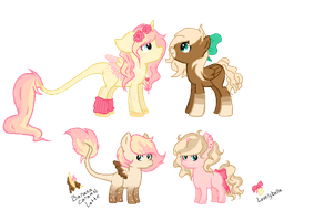 Queen Aiko x Sunflower Gallop by P4STELadopts