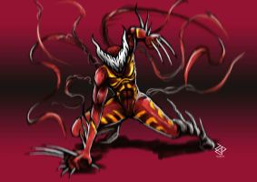 Carnage Wolverine by Za-Leep-Per