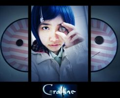 coraline : buttons for eyes by kim-tram