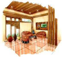 Modern Tropical room by shinvan